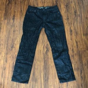 LRG Men's Raw Denim, True Taper Jeans